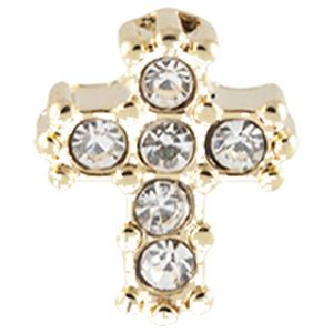 Picture of Gold Crystal Cross Charm